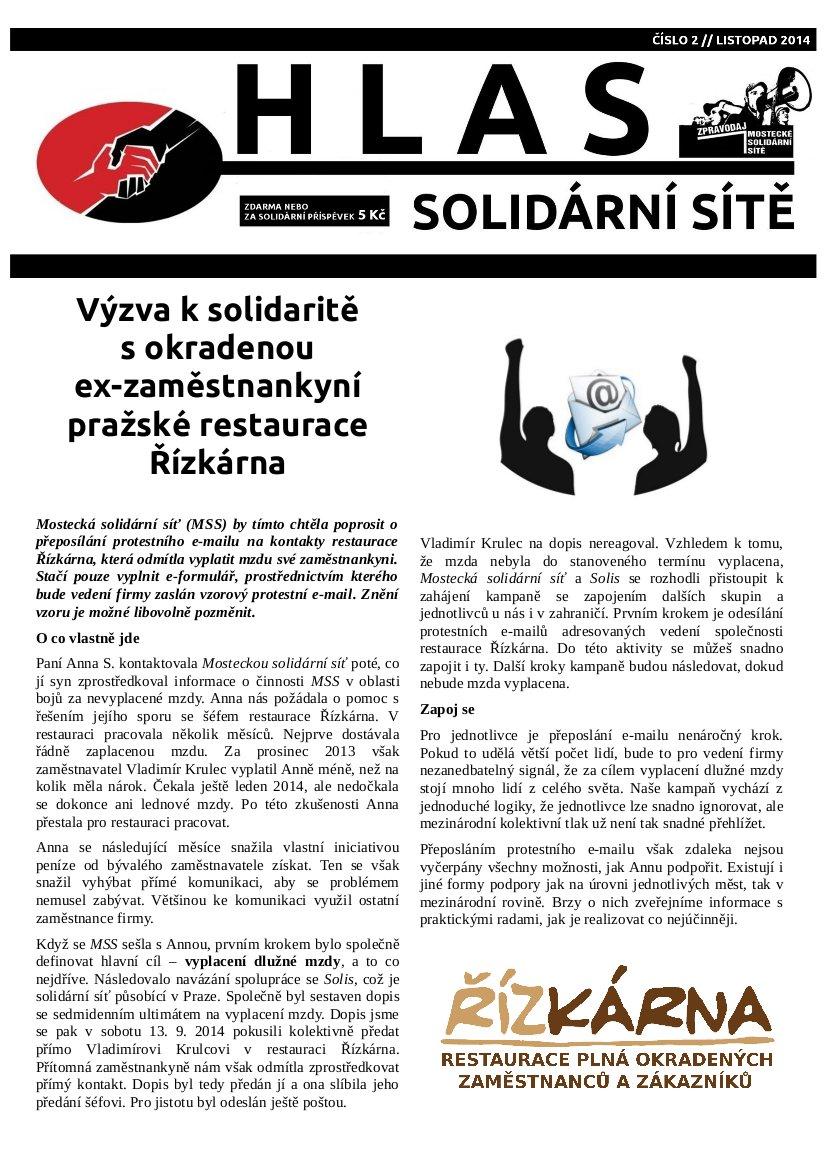 Hlas solidární sítě_2_titulka