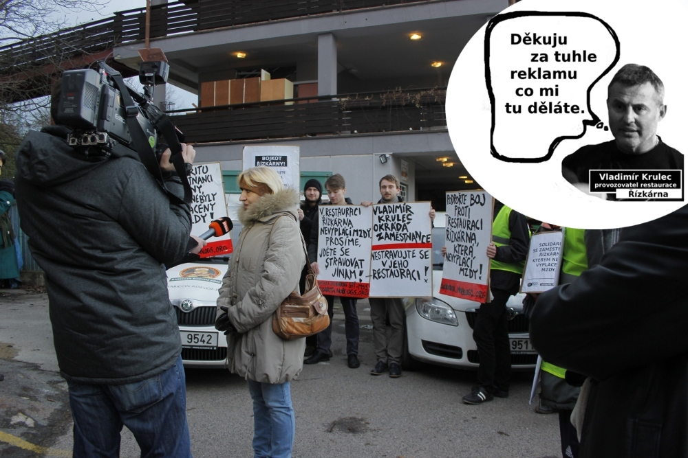 8_TV Prima točí protest před Řízkárnou