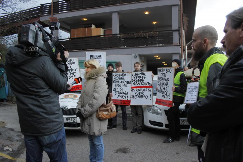 protest v restauraci Řízkárna_11.1.2015_c