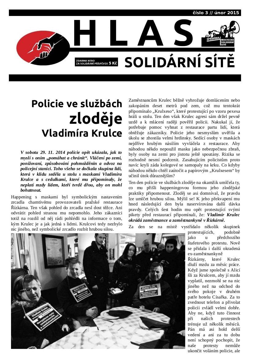 Hlas solidární sítě_3_únor 2015_titulka